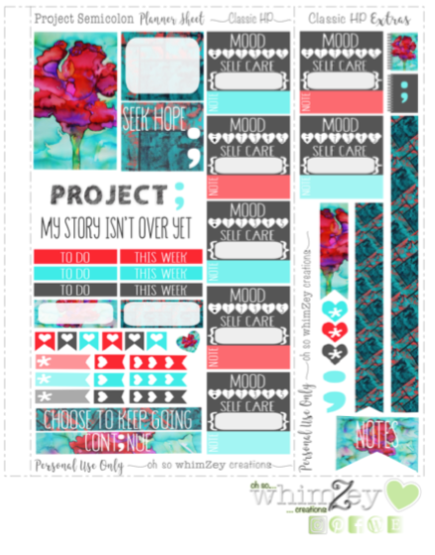 Freebie- Project Semicolon ohsowhimzey